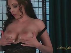 Big natural milf tits are sexy as she masturbates tubes