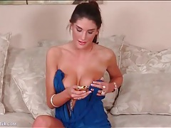 August ames bares her tits and takes selfies tubes