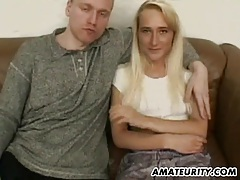 Amateur girlfriend sucks and fucks with double facial tubes
