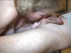 Granny gives a blowjob and gets fucked in her box tubes