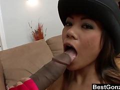 Big black dick vs petite asian slut tubes