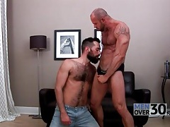Bear top gets a great blowjob from his lover tubes