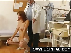 Medical exam for a pretty girl in voyeur porn tubes