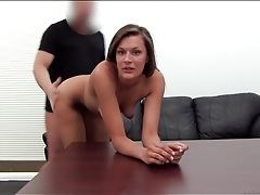 Girl gives up her asshole in casting couch session tubes