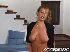 Busty amateur girlfriend home action with cum on tits tubes