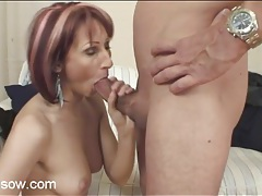Long legged redhead mom gives a good blowjob tubes