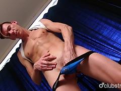 Horny straight finn masturbating his shaft tubes