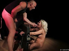 Bound blonde sucks dick and has hot sex tubes