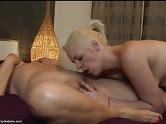 Cute blonde girl eats out wet mature pussy tubes