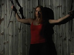 Rebellious redhead slave tamed for a rough bdsm submission tubes