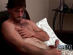 Hairy man with a hard dick masturbates tubes