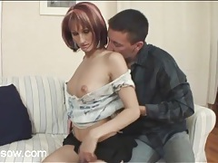 Foreplay and stripping with sexy milf redhead tubes