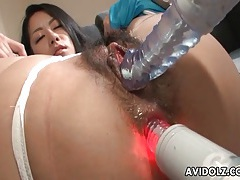 Toys fuck the ass and pussy of japanese girl tubes
