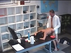 Secretary slut fucked by boss in office tubes