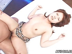 Missionary japanese sex with a sticky creampie tubes