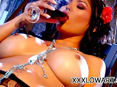 Alexis amore - busty latin pornstar pleasuring herself tubes