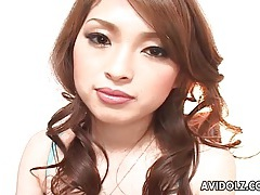 Gorgeous japanese babe gives him a hot footjob tubes