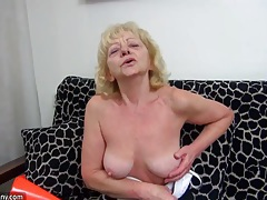 Old dirty chubby granny does masturbate and fun with herself tubes