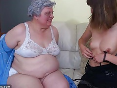 Big bbw granny playing with to young girl tubes