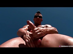 Hot and sweaty guy jerks off solo tubes