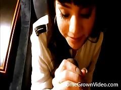 Cute girl gives black cock a pov blowjob tubes