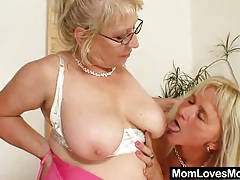 Big-titted gramma penetrates a madame tubes