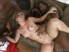 Thick white girl has hot sex with big black cocks tubes