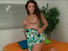Halter dress on a housewife stripping nude tubes