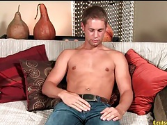 Super cute young guy strokes his dick lustily tubes