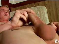 Cute blonde jordan ashton masturbates his dick tubes