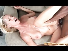 Moaning mom with fake tits fucked by bbc tubes