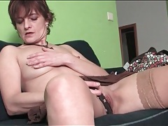 Tight pussy mature rubs her fresh pussy tubes