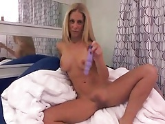 Purple toy fucks hot cunt of cherie deville tubes