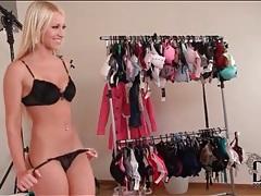 Black bra and panties are sexy on kiara lord tubes