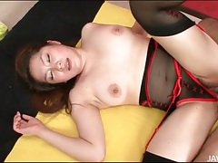 Lingerie is sexy on mirai haneda as she fucks tubes