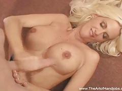 Perky blonde handjob tubes