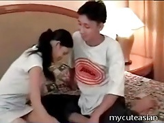 Asian girl toy fucks her man in the asshole tubes