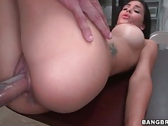 Slut lubes her snatch for hot back room sex tubes