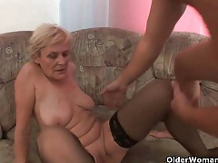 Sex starved grannies need their daily cumshot tubes