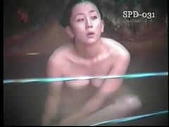 Asian girls in public baths have incredible tits tubes