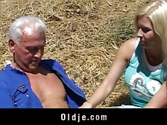 Old farmer fucking a blond young pierced pussy tubes