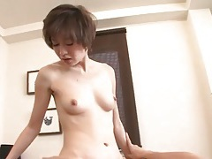 Skinny japanese girl kina hara sits on dick with hot cunt tubes