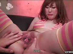 Cute young japanese babe eaten out tubes