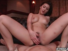Japanese cunt grinds all over his dick tubes