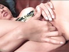 Sofia reyes masturbates cunt in crotchless panties tubes