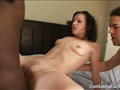 Cuckoldress fucked hard by a big black cock tubes