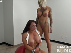 Dani andrews with brandimae in chains tubes
