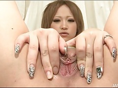 Little vibrator and big dildo fuck japanese pussy tubes