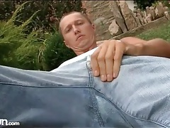 Cutie lays down a blanket and sucks his toes tubes