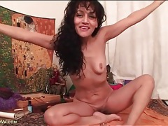 Naked milf with small tits does a spiritual chant tubes